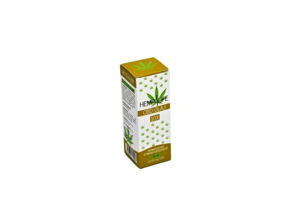Hemp4Life 10ml 10% CBD olaj doboz lyukadós