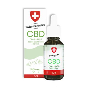 Swiss Cannabis CBD+MCT olaj 5% - 1500mg/30ml