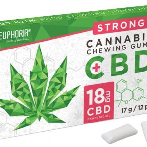 Euphoria CBD tartalmú kannabiszos rágógumi strong 17g 18mg