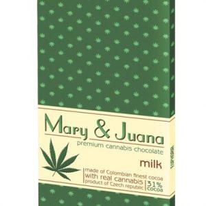 Euphoria Mary & Juana kannabiszos tejcsokoládé 80g