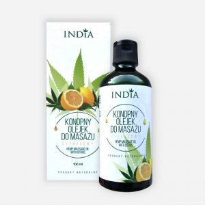 India kender masszázsolaj - citrusos 100ml