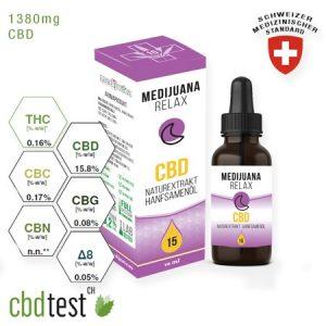 Medijuana Relax Full Spectrum CBD olaj 10ml 15%