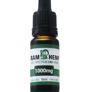 Ramhemp 1000mg Wide Spectrum CBD + CBG olaj 10ml 10%
