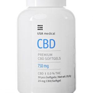 Usa Medical CBD kapszula 30db 750mg