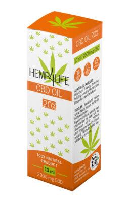 Hemp4Life CBD olaj 10ml 2000mg 20%