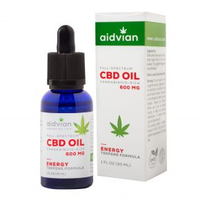AIDVIAN Full Spectrum CBD Olaj ENERGY 600 mg 30 ml