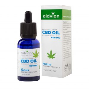 AIDVIAN Full Spectrum CBD Olaj FOCUS 600 mg 30 ml