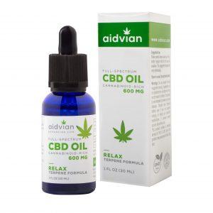 AIDVIAN Full Spectrum CBD Olaj RELAX 600 mg 30 ml