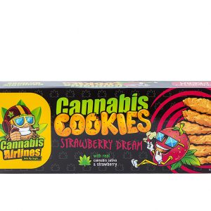 Cannabis Airlines Cookies-Strawberry keksz